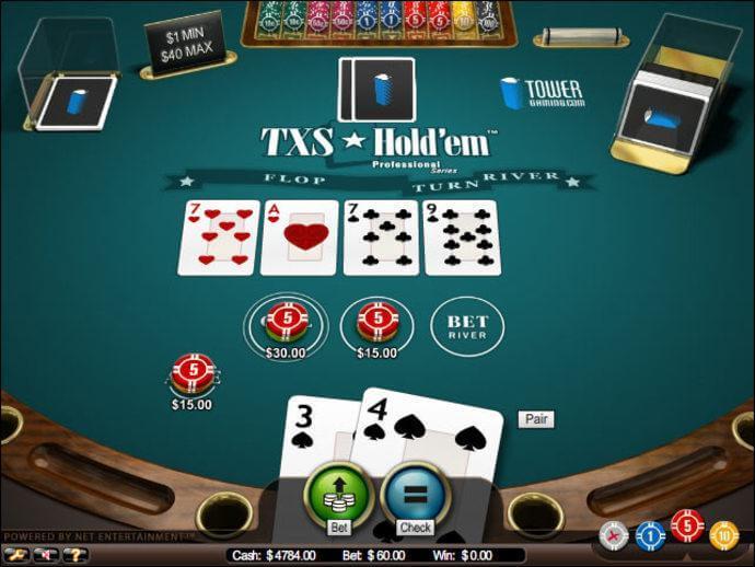 Texas Hold'em vinst poker